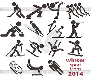 Wintersport-Icons - Vector-Clipart / Vektor-Bild