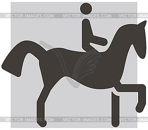 Reitersymbol - Clipart