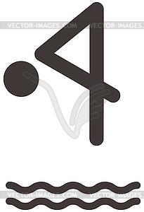 Tauchen Symbol - Vektorgrafik-Design