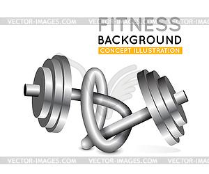 Gewichte in Knoten verdreht - Vektor-Clipart / Vektorgrafik
