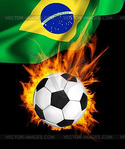 Ball für Fußball im Feuer - Stock Vektor-Clipart
