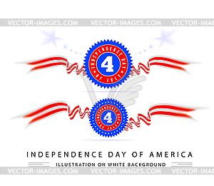 Viertel des Juli-amerikanische Unabhängigkeit - Klipart