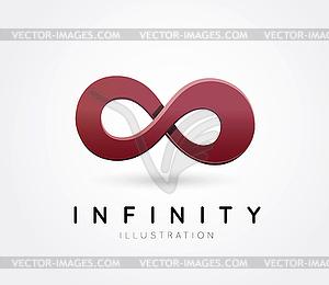 Symbol der Unendlichkeit - Vektorgrafik-Design