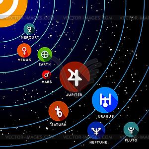 Planet des Sonnensystems - vektorisiertes Design