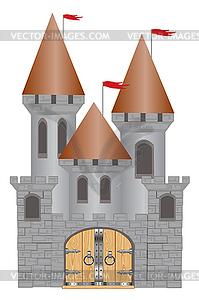 Festung aus alter Zeit - Vector-Design