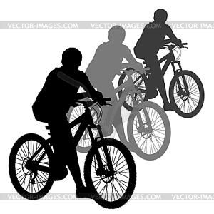 Silhouette der Radfahrer männlich. - Vektor-Clipart EPS