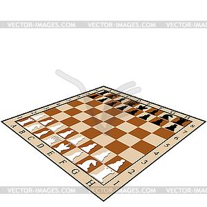 Schachbrett - Vektorgrafik