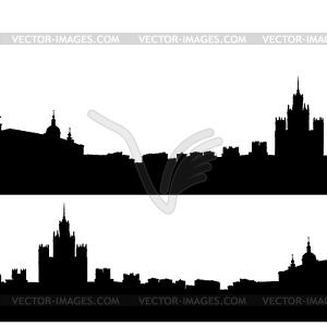 Moskau Stadt Silhouette Skyline - Vector-Clipart