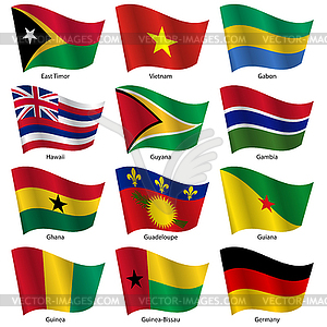 Stellen Flaggen der Welt souveräner Staaten. - Vector-Bild