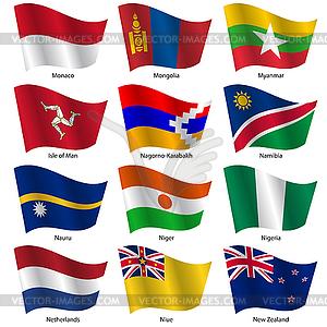 Stellen Flaggen der Welt souveräner Staaten. - Vektor-Clipart EPS