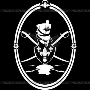 Hussar Emblem - Vektor-Clipart EPS