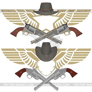 Cowboy Pistolen - vektorisiertes Design