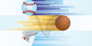 Sportgeräte - vektorisiertes Bild
