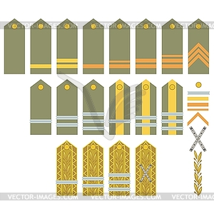 Insignien der rumänischen Armee - Vector-Clipart / Vektor-Bild