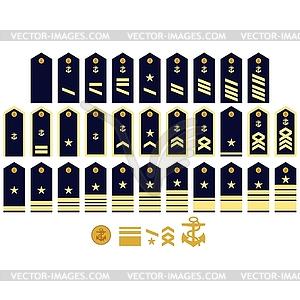 Insignien der Deutschen Marine - Vektor Clip Art