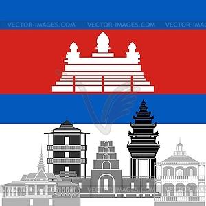 Kambodscha - vektorisiertes Design