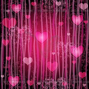 Grungy rosa valentine Muster - Vektor-Clipart / Vektor-Bild