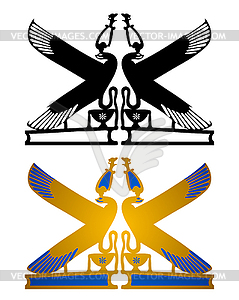 Alte ägyptische Wandzeichnung - Vektor-Illustration