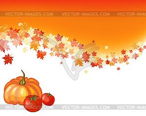 Herbst Ahorn-Hintergrund - Vektorgrafik-Design