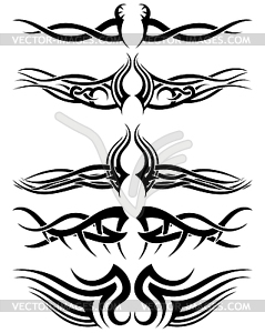 Set Tribal Tattoos - Royalty-Free Vektor-Clipart