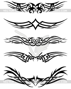 Set Tribal Tattoos - Vektor-Design