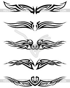 Set Tribal Tattoos - Vector-Bild