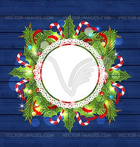 Weihnachtsferien Dekoration mit Grusskarte - Vektor-Clipart EPS