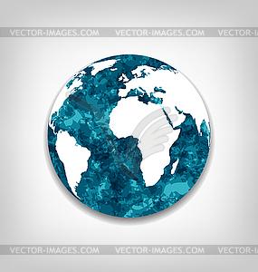 Speichern der globalen Erwärmung der Erde - vektorisiertes Design