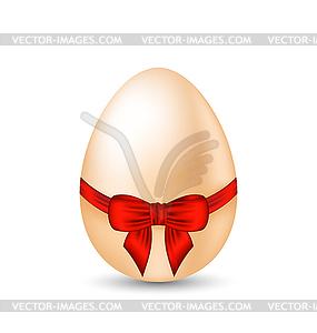 Osterfeier Eierverpackung roten Schleife - Vektorgrafik