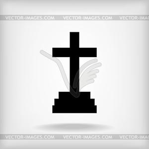 Kalvarienberg Kreuz-Symbol - vektorisiertes Bild