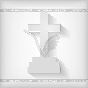 Kalvarienberg Kreuz-Symbol - vektorisierte Grafik