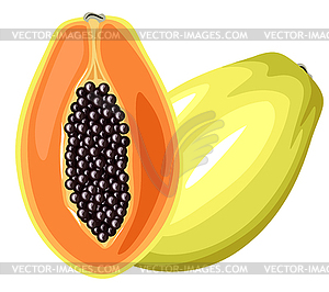 Papaya-Früchte - Stock-Clipart