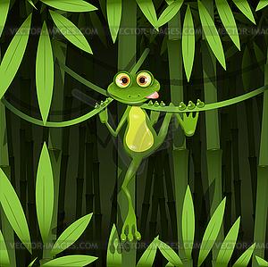 Frosch im Dschungel - Vector-Abbildung