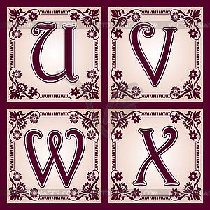 Vintage-ABC. Teil 6 - Vektor-Design