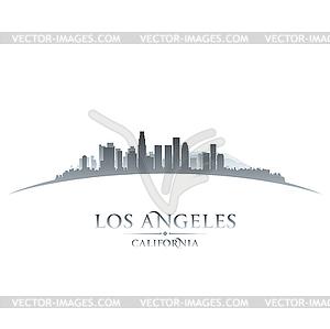 Los Angeles Kalifornien Skyline Silhouette Whit - Vektor-Abbildung