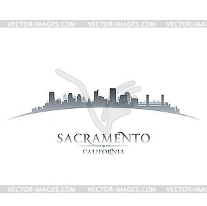 Sacramento California Skyline Silhouette - Vektor-Bild