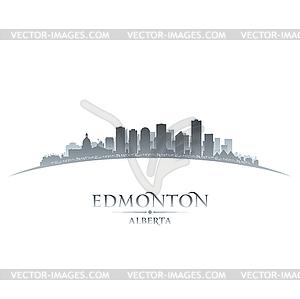 Edmonton Alberta Kanada Skyline Silhouette - Clipart-Design