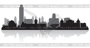 Albany New York Skyline der Stadt-Silhouette - Vector-Clipart EPS