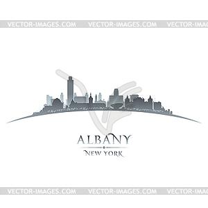 Albany New York Stadt-Silhouette weißen Hintergrund - Vektorgrafik-Design
