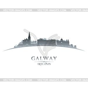Galway Irland Skyline Silhouette weiß - Vector-Clipart / Vektor-Bild