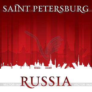 Sankt Petersburg - Skyline der Stadt - vektorisiertes Design