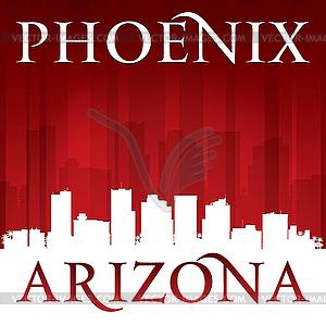 Phoenix Arizona Stadt-Skyline-Silhouette rot - Vektorgrafik