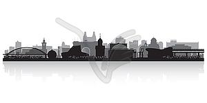 Novosibirsk Russland Skyline der Stadt Silhouette - vektorisierte Grafik