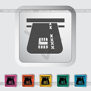 Kreditkarte einzigen flachen icon - Stock Vektor-Bild