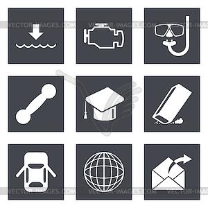 Icons für Web-Design Set 17 - Vector-Clipart EPS