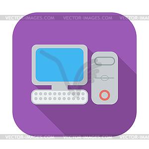 Computer flache icon - Vector-Clipart / Vektor-Bild