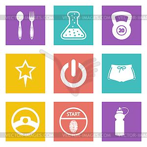 Farbe Icons für Web-Design-Set 41 - Vektor-Klipart