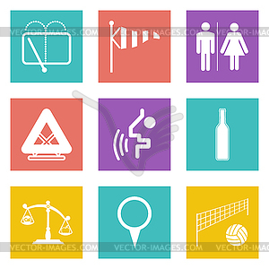 Farbe Icons für Web-Design-Set 45 - farbige Vektorgrafik