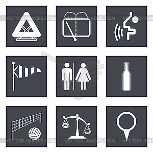 Icons für Web-Design Set 45 - vektorisiertes Clipart