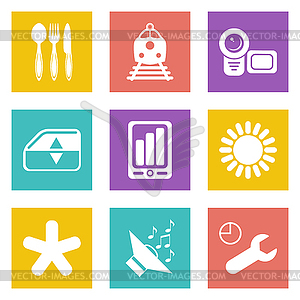 Farbe Icons für Web-Design-Set 50 - Vektorgrafik-Design